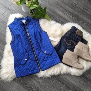 CHARTER CLUB - NWT Blue Quilted Vest